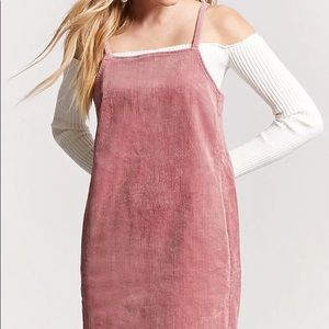 PINK CORDUROY DRESS FOREVER 21